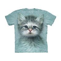 The Mountain Kids 100% Cotton Eyed Kitten Graphic Novelty T-Shirt