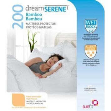 DreamSerene Tranquility Hypoallergenic, Waterproof and Breathable Mattress Protector, Queen, White