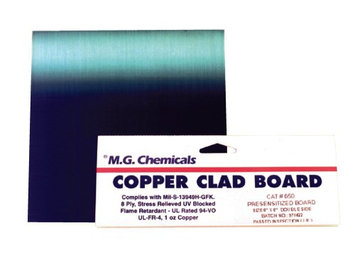 Mg Chemicals 612 Single Sided Copper Clad Board Presensitized 6x9