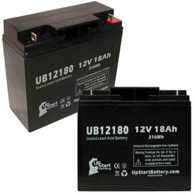 2x Pack - DOUGLAS PS12170 Battery Replacement - UB12180 Universal Sealed Lead Acid Battery (12V, 18Ah, 18000mAh, T4 Terminal, AGM, SLA)