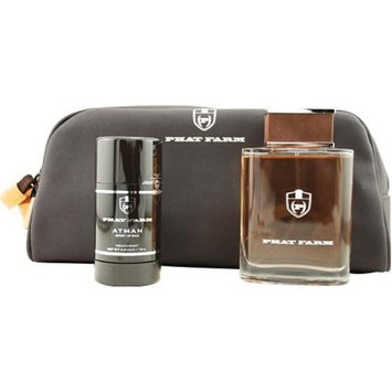 Atman Spirit Of Man by Phat Farm For Men. Set-edt Spray 3.4-Ounces & Deodorant Stick 2.6-Ounces & Toiletry Bag by Phat Farm