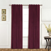 United Curtain 100% Dupioni Silk Curtain Panel
