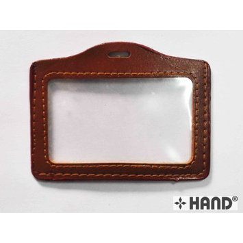 Fake Leather Trim Luggage Badge, Name Holder 110 x 70mm [Pack of 5]