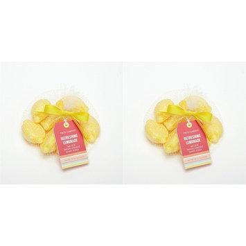 Two's Company Lemon Guest Soap Bag Set