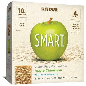 Detour SMART Apple Cinnamon Whole Grain Oatmeal Protein Nutrition Snack Bar