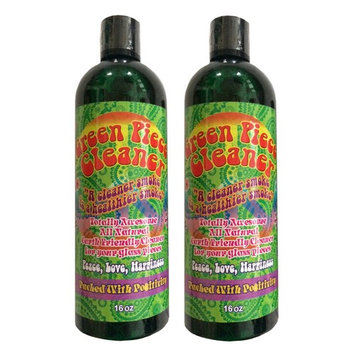 2 Count - Green Piece Cleaner 16 oz - The All Natural Glass Cleaner, Metal and Ceramic Water Pipe/Bong/Bubbler - Earth Friendly Resin and Tar Remover