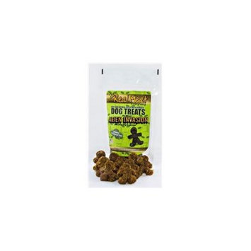 Real Meat Co 70030 Alien Invasion Beef Oatmeal & Spinach Dog Cookie Treats 4oz