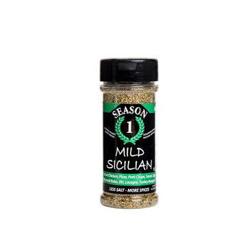 Mild Sicilian Seasoning - Lower Sodium, Gluten Free, No Added Sugar, No MSG, Paleo, Vegan