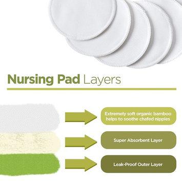 Organic Bamboo Nursing Pads (12 Pack) + 3 Bonuses | 4.7'' (12cm) | Super Soft & Absorbent, Hypoallergenic | Breathable, Washable, Leak-Proof | Premium Reusable Breast Pads