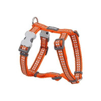 Red Dingo DH-RB-OR-LG Dog Harness Reflective Orange Large