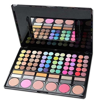 78 Color Eyeshadow Powder Blush + Lip Colour Makeup Combinations Palette ,YOYORI Natural Nude Matte Shimmer Glitter Highly Pigment Sparkly Eye Shadow Press Powder Mineral Professional Cosmetics