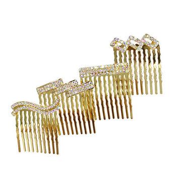 Rhinestone Assorted Set of Mini Hair Combs G
