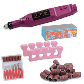 Pen Shaped Electric Nail Art Manicure Polish Drill File Machine w/ 6 Bits 100-240V