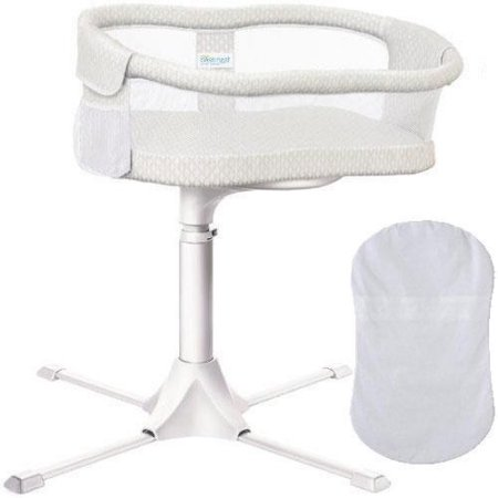 Halo - Swivel Sleeper Bassinet - Essentia Series with 100 Cotton Fitted Sheet