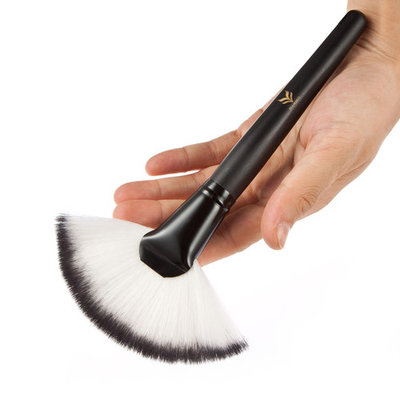 HUAMIANLI Professional Naked Synthetic Foundation Makeup Soft Brushes Set Black Wood Handle Make Up Face Powder Brush Cosmetics