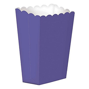 Popcorn Shaped Boxes, Large   New Purple   Party Accessory