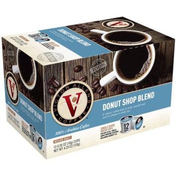 Victor Allen's Single-Serve Coffee Cups, Medium Roast Donut Shop Blend, 12 count