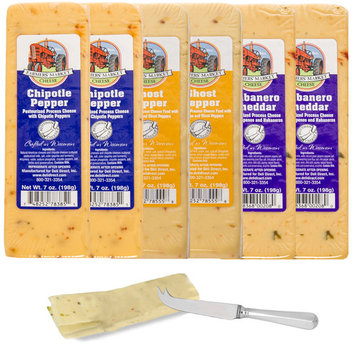 Farmer's Market (Set of 6) Gourmet Wisconsin Cheese Blocks For Gift Basket, Fondue Cheese Brick Pack