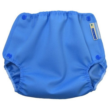 Mother-Ease One-Size Cloth Diaper Cover (Medium/Large (20-27 lbs), Blue Raindrop)