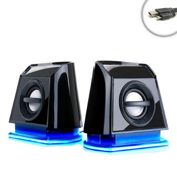 Accessory Power GOgroove BassPULSE 2MX Gaming Speakers with Glowing Blue LED Lights