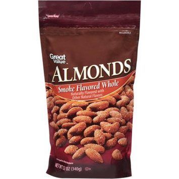 Walmart Stores Inc Great Value Smoke Flavored Whole Almonds, 12 oz