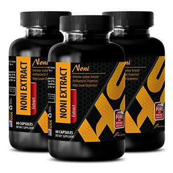 Digestive support for weight loss - NONI EXTRACT - Antioxidant supplement - 3 Bottles 180 Capsules