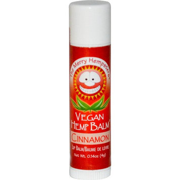 Merry Hempsters, Vegan Hemp Balm, Lip Balm, Cinnamon, 0.14 oz (4 g) [Flavor : Cinnamon]
