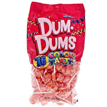 Orange Dum Dums Color Party - Orange Flavored - 4 Bags - 75 Count Per Bag - 300 Total Lollipops - Includes Free