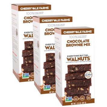 Cherryvale Farms, Chocolate Brownie Baking Mix, Everything But The Walnuts, Vegan, Dairy-Free, Non-GMO, 13.5 oz (pack of 3)