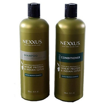 Nexxus Shampoo & Conditioner Combo Pack - Sheer Frizz Resistance with Wheat Protein & Indian Lotus - 25 oz Bottles