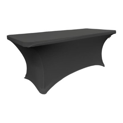 LA Linen TCSpandex72x30x30-BlackX24 Rectangular Spandex Tablecloth Black - 72 x 30 x 30 in.