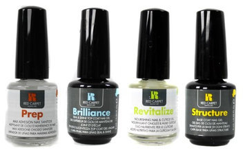 Red Carpet Manicure Gel Nail Polish 4-Pack - Sanitizer Top Base Nourish