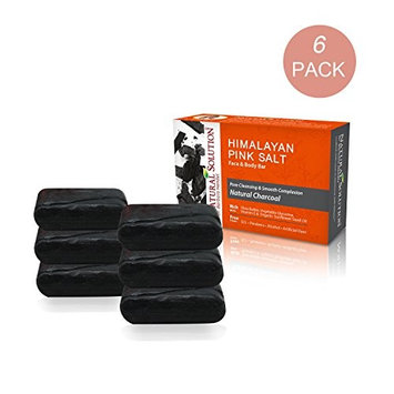 Activated Charcoal Organic Soap Bar (6-Pack, 5.2 oz each)