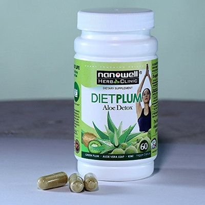 Nanowell Diet Plum Aloe Detox for Detox and Weight Loss | Cleanse, Repair and Regulate Your Intestinal Health | Eliminating wastes from your body in natural way!