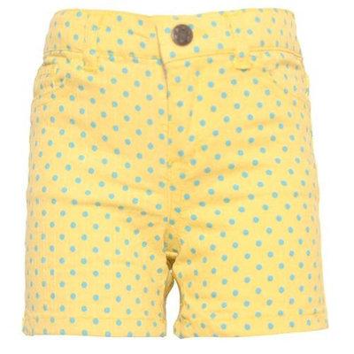 Ko Ko Ailis Little Girls Yellow Blue Polka Dotted High Waisted Shorts 4