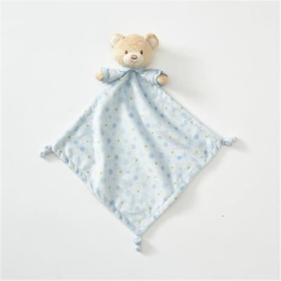 Nesco Us Enesco 197093 Plush Bear Lovey Blanket Blue
