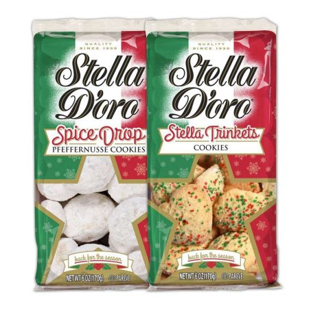 Snyders-lance Stella D'oro Holiday Winter Collection Spice Drop & Trinkets Cookies