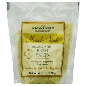 Aromafloria Aromatherapy Collection Muscle Soak Salt Packette, Eucalyptus/Peppermint/Lemongrass, 4.5 Ounce
