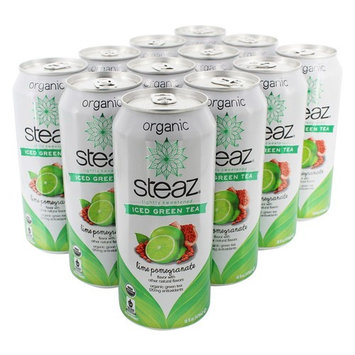 Lightly Sweetened Iced Green Tea Lime Pomegranate - 12 Can(s)