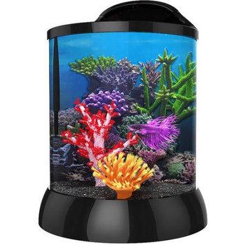 Bio Bubble Pets Aqua Terra 2 Gallon with 3D Coral Background, Black