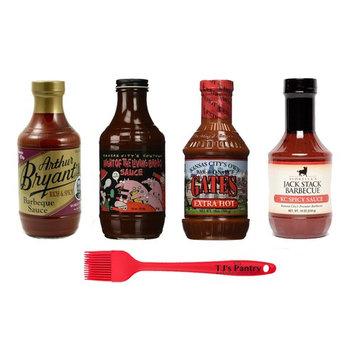 Kansas City BBQ Variety Pack + TJs Pantry Silicone Basting Brush (Spicy Variety)