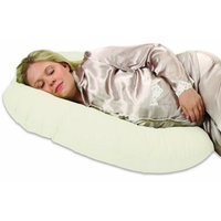 Leachco Snoogle Mini - Compact Side Sleeper Pregnancy Pillow - Ivory