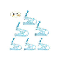 6PCS Blue Disposable Safety Ear Piercing Gun Unit Tool With Ear Stud Asepsis Pierce Kit (Blue)