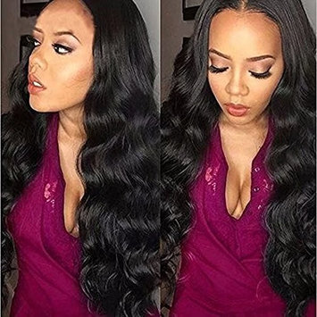 H&N Hair Brazilian Virgin Hair Full Lace Wigs Body Wave Human Hair Wigs with Baby Hair 130% Density For Black Women Natural Color 12inch