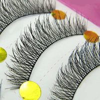 Bluelans 10 Pairs Makeup Beauty False Eyelashes Extension Long Thick Cross Eye Lashes