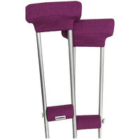 Crutcheze Pink Heather Crutch Pad Set - Underarm & Hand Grip Covers with Comfortable Padding - Crutch Accessories Made In USA (2 Armpit, 2 Hand Cushion) - Crutch Pillows
