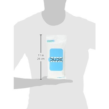 DUDE Shower Body Wipes (3 Packs 8 Wipes) Unscented Naturally Soothing Aloe and Hypoallergenic, Portable Travel-Sized Individual Cleansing Cloths for Men