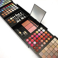 Ownsig 177 Colors Matte Shimmer Eyeshadow Lip Gloss Blush Contours Palette Set With Brushes Puff Mirror