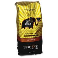 Westrock East African Blend Ground Coffee - Caffeinated - East African - Medium/Dark - 12 oz Per Bag - 1 Each