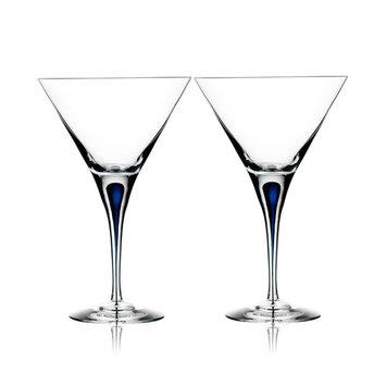 Set of 2 Intermezzo Blue Martini Glasses